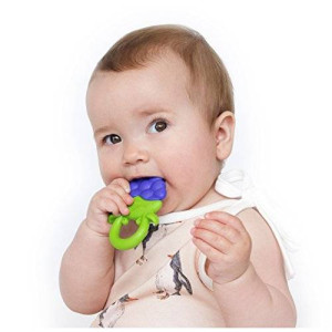 Nuby Fruity Chews Ring Teethers, 3 Months Plus