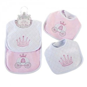 BaAspen Baby Aspen Little Princess 2 Piece Bib Gift Set, Pink/White