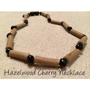 Baltic Amber Black Cherry Hazelwood 12.5 to 13 inches Necklace for babies baby infant toddler bub for Gut issues; Eczema