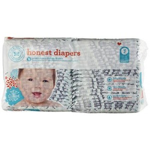 The Honest Company Honest Company Size 2 Diapers Anchors and Stripes Design 12-18 Pounds Pack of 40