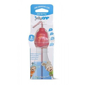 JellyCAP - One Drinking CAP, Any Bottle (3 Count) Red/Orange/Yellow