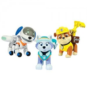 Paw Patrol, Action Pup 3Pk, Everest/Robodog/Rubble