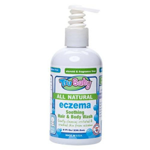 TruKid TruBaby Eczema Soothing Hair and Body Wash, 8 Ounce