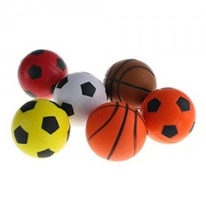 Fajiabao Mini Foam Ball Toys Basketball Soccer Football Softball Stress Squeeze Balls for Boy Girl Party Favors Sports Game Play Pack of 6