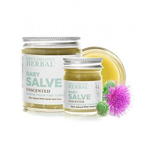 Baby Salve, Natural Diaper Cream, Rash Treatment And Moisture Barrier Skin Protectant And Cleanser (1 oz), Ora's Amazing Herbal