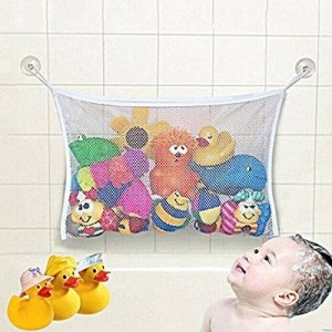 Zen Pro Logic Best Bath Toy Organizer Features Improved Large 2 Extra Bonus Suction Cups- Powerful Bath Toy Bag Is Rated #1 Bath Storage for Tubs