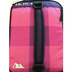 Arctic Zone Ultra High Performance Expandable Lunch Pack Bag Double Capacity with Removable Compartments and Ice Pack (Pink)