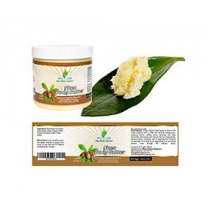 Blue Planet Organics Shea butter-unrefined organic African Grade  A ivory body butter. All ages acne