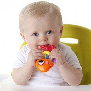 Nuby Rattle Pals Teether Toy, 3 Months Plus