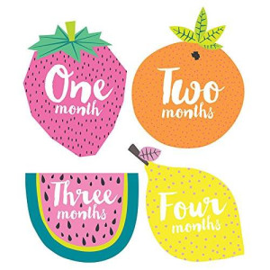 Lucy Darling Little Tutti Frutti Monthly Stickers - Gender Neutral - Months 1-12
