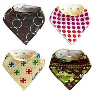 Ashley Martha Baby Ashley Martha Cute and Trendy Baby Bib Bandana for Boys and Girls (4 Pack) Featuring Colorful