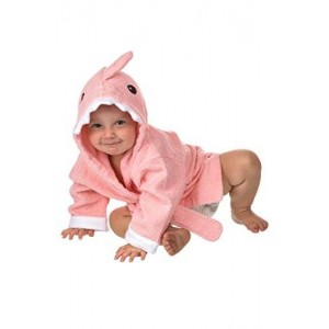 Lil Cuties - Pink Shark Hooded Towel for Baby