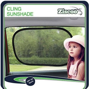 Ziscoo Car Sun Shade {2 Pack} Baby Car Sun Shade Blocks Over 97% of Harmful UV Rays and Protects Your Child From Sunlight and Glare