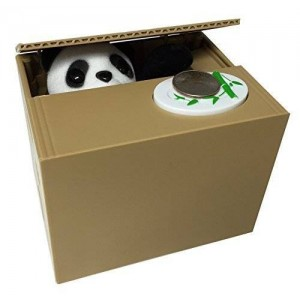 JBK Products Panda Coin Piggy Bank Saving Box. Panda Paw Steals Coins Into Bank for Saving Money.