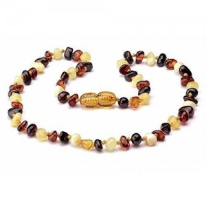 A&J Goods Polished Baltic Amber Teething Necklace For Babies