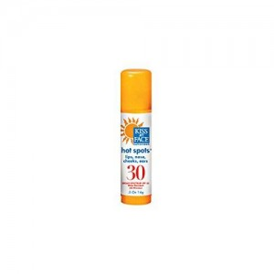 Kiss My Face Organic Hot Spots Natural Sunscreen Stick, SPF 30 Sunblock, 0.5 Ounce Stick