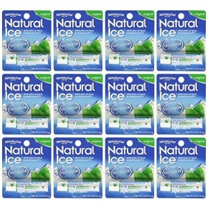 Mentholatum natural ice medicated lip protectant sunscreen - 12 pc / pack