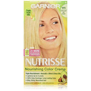 Garnier Nutrisse Haircolor, 111 Extra-light Ash Blonde White Chocolate (Packaging May Vary)