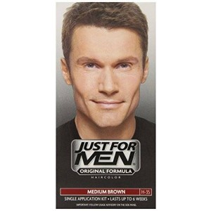 Just for Men Shampoo-In Hair Color, Medium Brown 35, 1 application, 3 Count