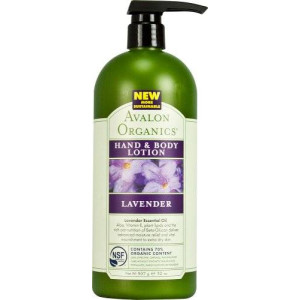 Avalon Organics Lavender Hand and Body Lotion, 32 Ounce