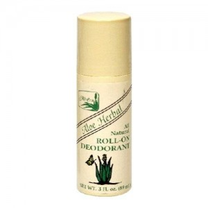 Alvera All Natural Roll-On Deodorant, Aloe Herbal, 3 Fluid Ounce