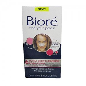 Bioré Biore Ultra Deep Cleansing Pore Strips, 6 Nose Strips each