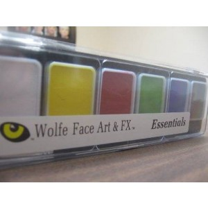 Wolfe Face Art & Fx Wolfe 6 Color Palette/Face Paint Kit (Essentials)
