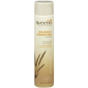 Aveeno Nourish Plus Strengthen Shampoo, 10.5 Ounce (Pack of 2)