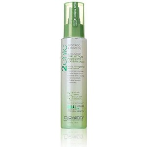 Giovanni 2chic Avocado and Olive Oil Ultra-Moist Dual Action Protective Leave in Spray, 4 Fluid Ounce