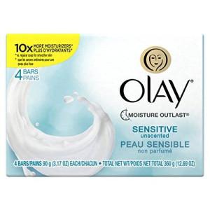 Olay Sensitive Bar Soap Personal, 3.17 Ounce, 4-Bar