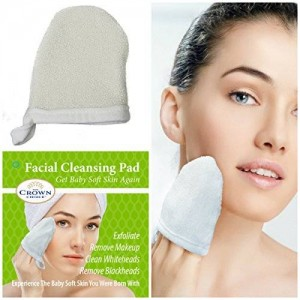The Crown Choice Natural Facial Sponge Cleansing Pad for Men and Women (1 Pack) | Pore Cleansing Face Scrubber Exfoliator to Remove Makeup