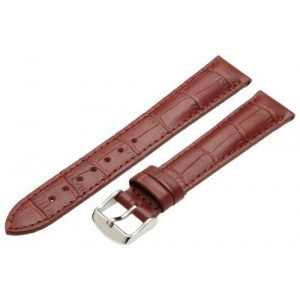 Hadley-Roma Men's MSM898RR-180 18-mm Tan Alligator Grain Leather Watch Strap