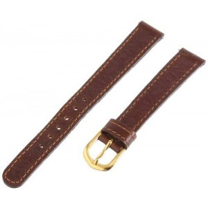 Voguestrap TX76312HN Allstrap 12mm Honey Regular-Length Oil Leather- Embossed Watchband