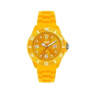 Ice-Watch SI.GL.B.S Unisex Sili Winter Goldleaf Dial Yellow Silicon Watch