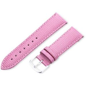 Hadley-Roma Women's LSL725RH 200 20-mm Pink Java Lizard Grain Watch Strap
