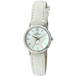 Peugeot Women's 3030WT Classic White Leather Watch
