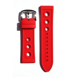 Breitling Rally Style 24mm RED Rubber/Silicone Replacement Watchband