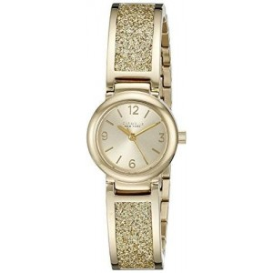 Caravelle New York Women's 44L164 Analog Display Analog Quartz Yellow Watch