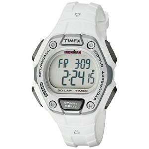 Timex Women's TW5K894009J Ironman Classic 30 Digital Display Quartz White Watch