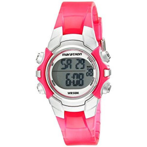 Timex Unisex T5K808M6 Marathon Digital Display Quartz Pink Watch