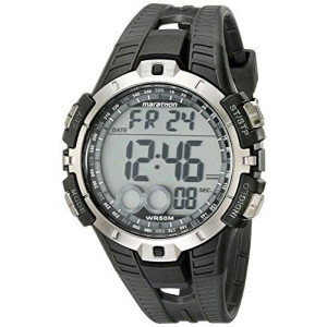 Timex Men's T5K802M6 Marathon Digital Display Quartz Black Watch