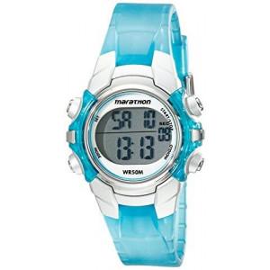 Timex Women's T5K817M6 Marathon Digital Display Quartz Blue Watch