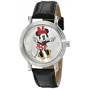 Disney Women's W001878 Minnie Mouse Analog Display Analog Quartz Black Watch