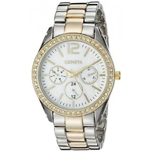 Geneva Women's FMDJM114 Analog Display Quartz Two Tone Watch