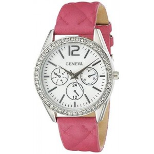 Geneva Women's FMDJM107 Analog Display Quartz Pink Watch