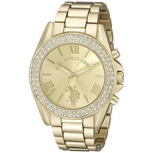 U.S. Polo Assn. Women's USC40036 Analog Display Analog Quartz Gold Watch