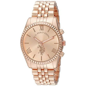 U.S. Polo Assn. Women's USC40060 Analog Display Analog Quartz Rose Gold Watch