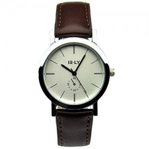 Sinceda Fashion Brown Leather Strap Girl's Watch