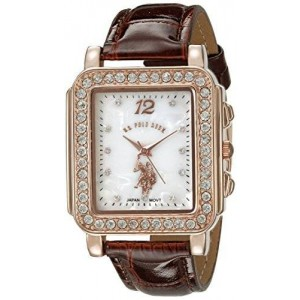 U.S. Polo Assn. Women's USC42014 Analog Display Japanese Quartz Brown Watch