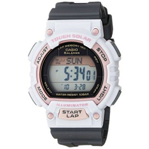 Casio Women's STL-S300H-4ACF Solar Runner Digital Display Quartz Grey Watch